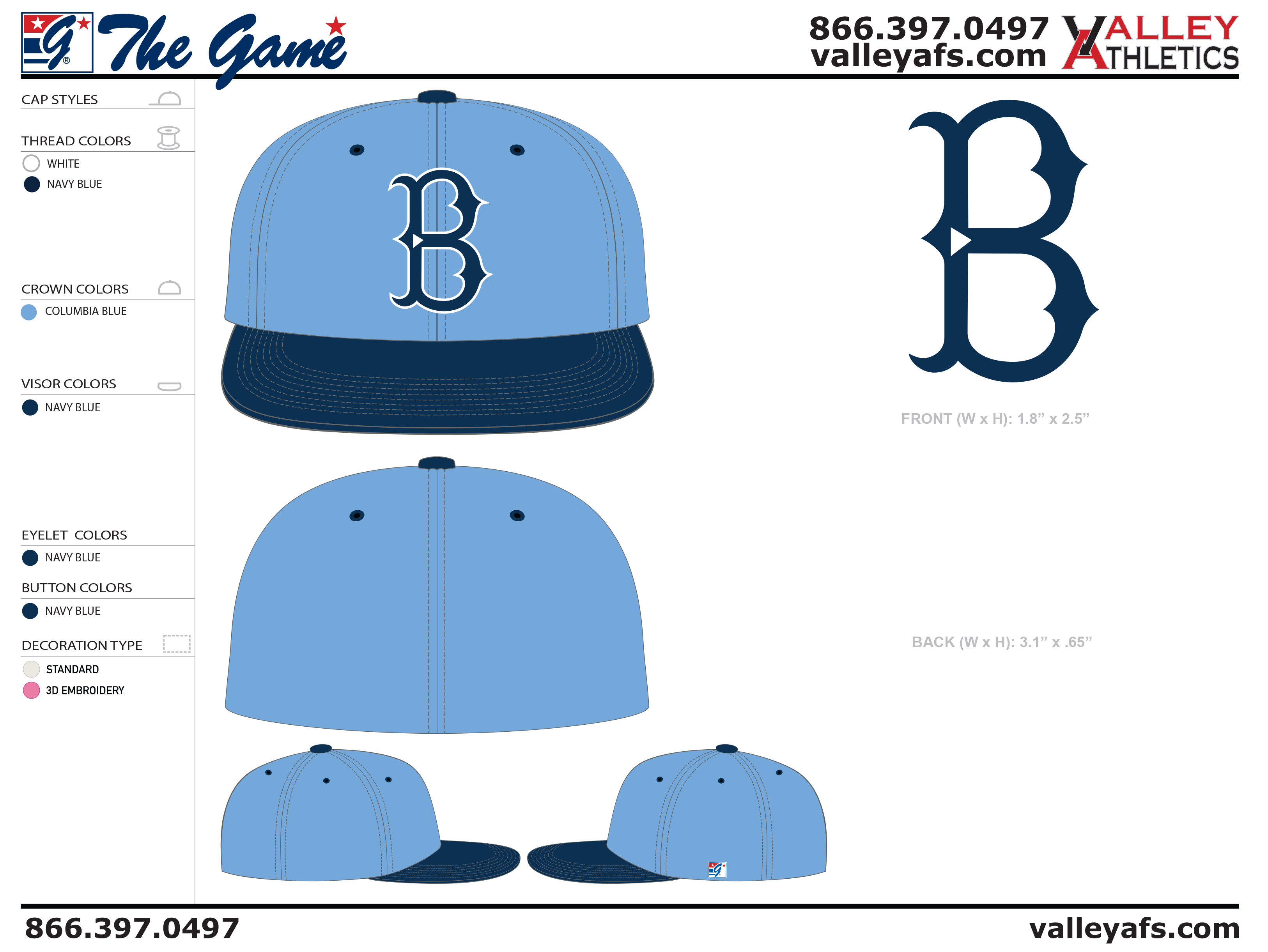 Columbia Blue Navy Blue Hat Designs - Valley AFS 2bb5d00df3d